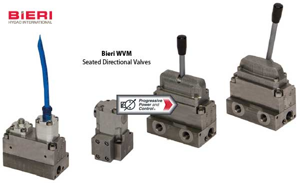 Bieri WVM seated directional valves