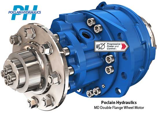 Hydraulic Wheel Drive System : Poclain hydraulics md wheel motor with double flanges