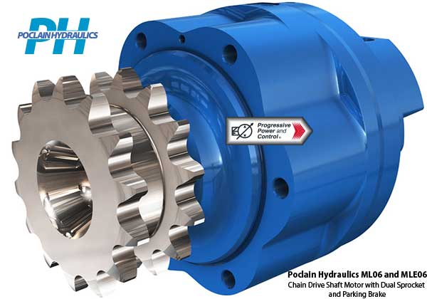 Poclain Hydraulics Ml06 And Mle06 Hydraulic Chain Drive
