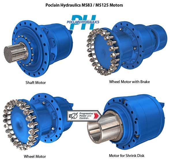 Types Of Hydraulic Motors : Poclain hydraulics ms and mse model hydraulic motors