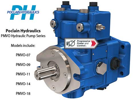 Poclain hydraulics pmvo model hydraulic axial piston pumps for Variable displacement hydraulic motor