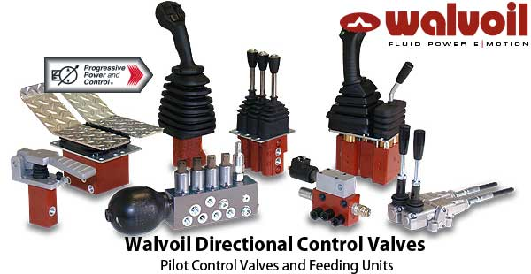 Walvoil hydraulic pilot control valves and feed units