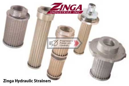 Zinga strainers / hydraulic filters