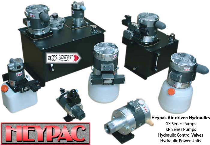 Heypac air-operated hydraulic pumps
