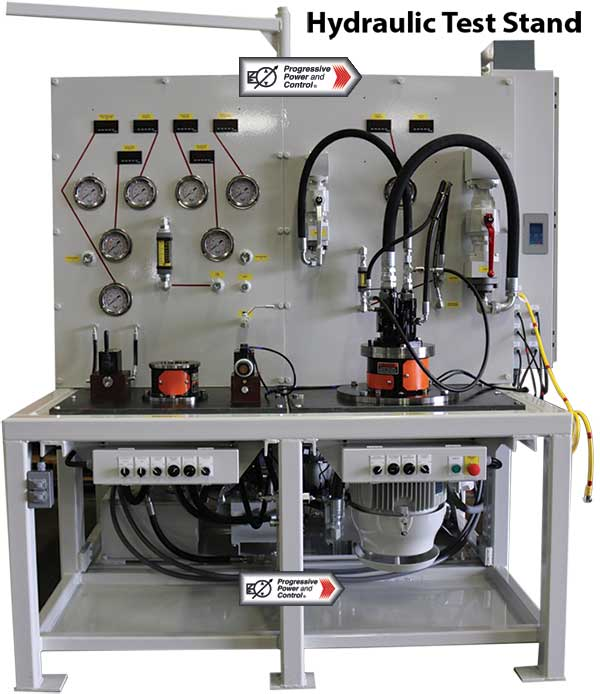 Progressive power and control hydraulic systems testing Hydraulic motor testing