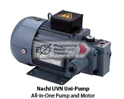 Nachi UVN uni-pump vane pump and motor combination