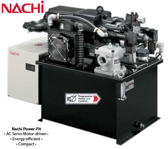 Nachi hydraulic powermeister servo motor hydraulic power unit for Servo motor specifications pdf