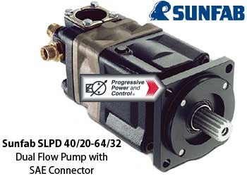 Sunfab Double Hydraulic Pumps With Dual Flows And Din And