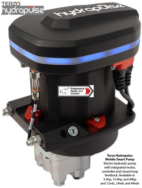 Terzo hydrapulse electro-hydraulic system for mobile hydraulics