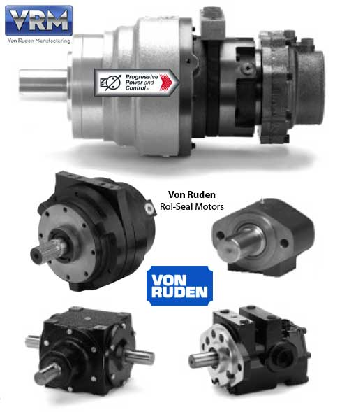 Von Ruden Rol Seal Hydraulic Motors Available From