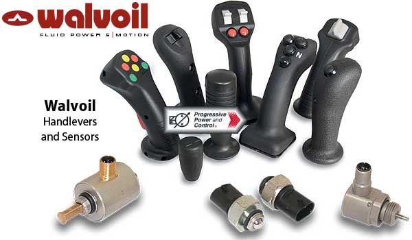 Walvoil hydraulic pilot control valves and feed units including