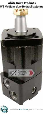 White Drive Products hydraulic motors models RS, RE, WD, WG
