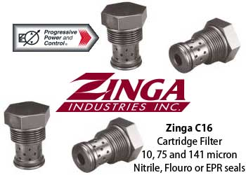 Zinga C16 pressure filter - cartridge style filter