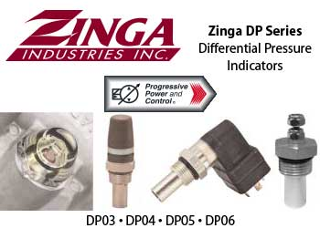 Zinga DP differential pressure indicators