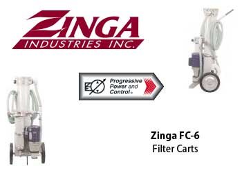 Zinga filter carts for hydraulic fluid filtration FC-6