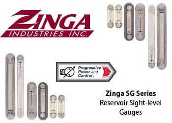 Zinga SG reservoir sight level gauges