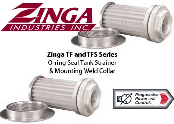 Zinga TF and TFS tank strainer with o-ring and weld collar