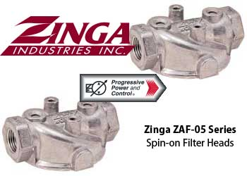 Zinga ZAF-05 filter head - spin-on