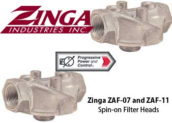 Zinga ZAF series spin-on filter heads