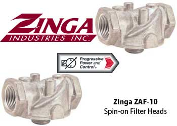 Zinga ZAF-10 and ZAF-13 spin-on filter heads